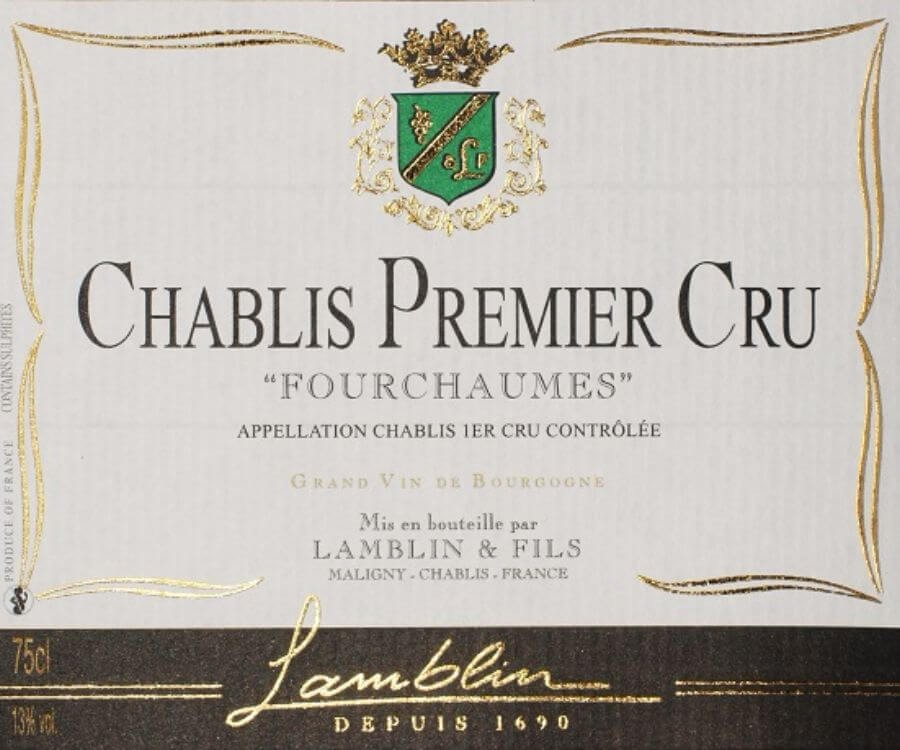 Lamblin & Fils Chablis 1er Cru Fourchaume, Burgundy, France, 2017