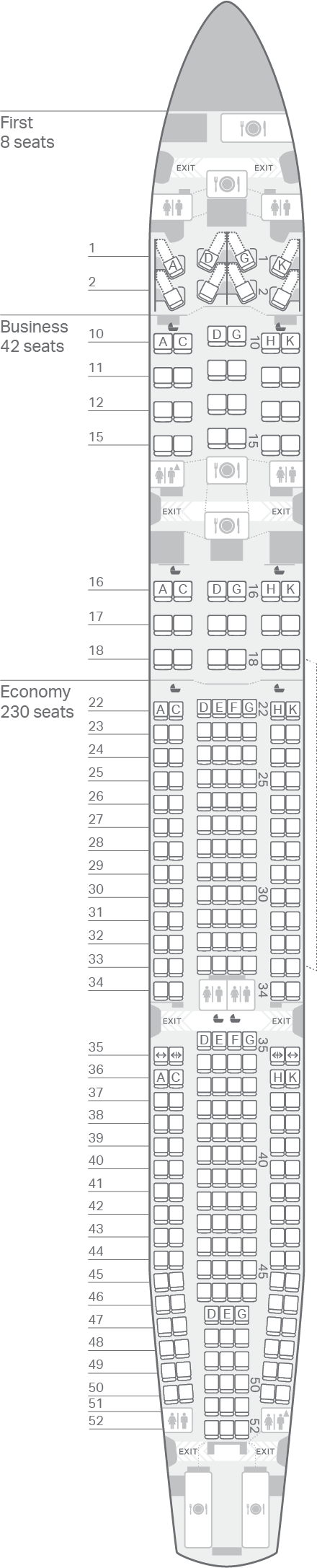 A330-300(A33R) seating plan