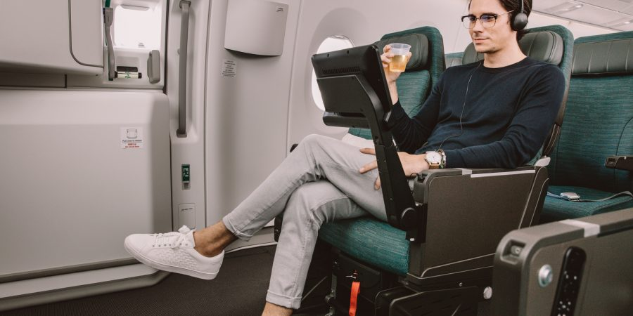 Reserve an extra legroom seat