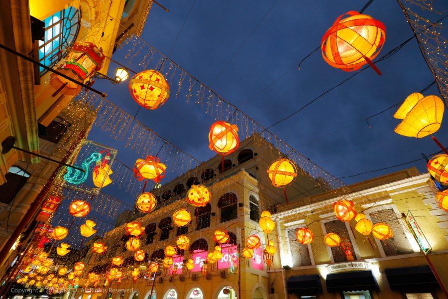 Lanterns in Macao. Image courtesy of MGTO.